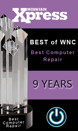 Best Computer Repair store in WNC for eight years.